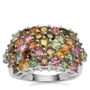 Tutti-Frutti Tourmaline Ring in Sterling Silver 4.76cts