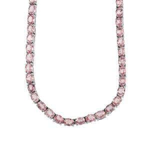 Sakaraha Pink Sapphire Necklace in Sterling Silver 21.78cts