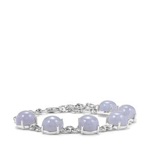 Blue Lace Agate Bracelet in Sterling Silver 26.51cts