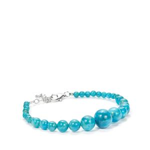 Neon Apatite Graduated Bracelet in Sterling Silver 67cts