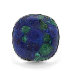 21.60ct Azure Malachite Sterling Silver Aryonna Ring