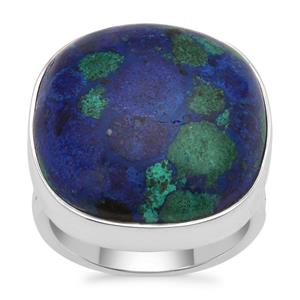 Azure Malachite Ring in Sterling Silver 21.60cts