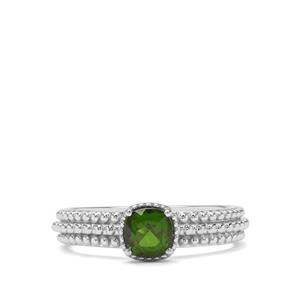 0.64ct Chrome Diopside Sterling Silver Ring