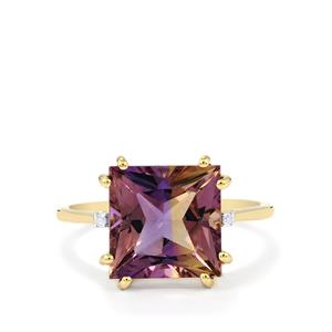 Anahi Ametrine Ring with Diamond in 10K Gold 4.67cts