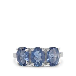 4.55ct Colour Change Fluorite Sterling Silver Ring