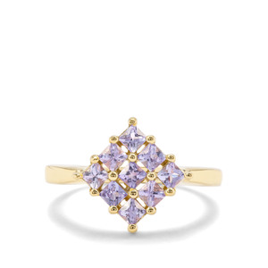 0.86ct Tanzanite Midas Ring