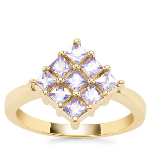 Tanzanite Ring in Gold Plated Sterling Silver 0.86ct