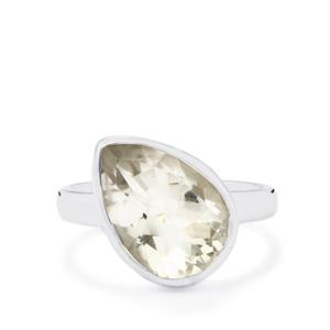 Optic Quartz Ring in Sterling Silver 5.50cts