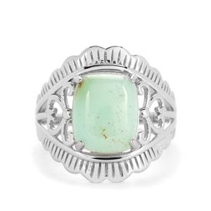 Szklary Chrysoprase Ring in Sterling Silver 4.28cts