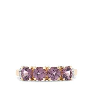 Mahenge Pink Spinel & Diamond 9K Gold Ring ATGW 1.53cts