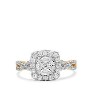 GH Diamond Ring in 18K Gold 0.76ct