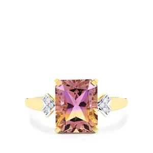 Anahi Ametrine Ring with Diamond in 9K Gold 3.16cts