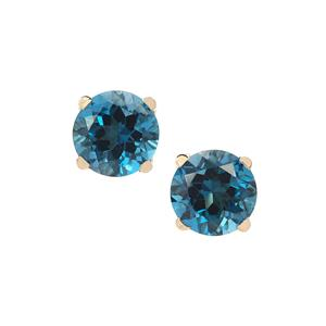 Marambaia London Blue Topaz Earrings in 9K Gold 4.89cts