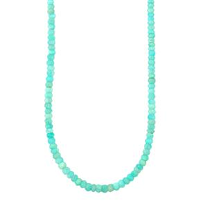 52ct Amazonite Sterling Silver Graduated Bead Necklace