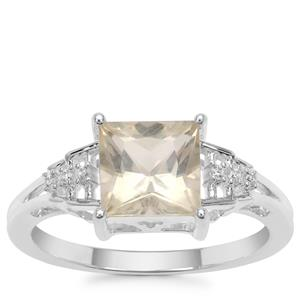 Serenite Ring with White Zircon in Sterling Silver 1.61cts