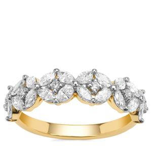 Diamond Ring in 18K Gold 1ct
