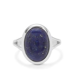 Sar-i-Sang Lapis Lazuli Ring in Sterling Silver 6cts