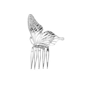 0.36ct White Topaz Sterling Silver Butterfly Couture Hair Slide