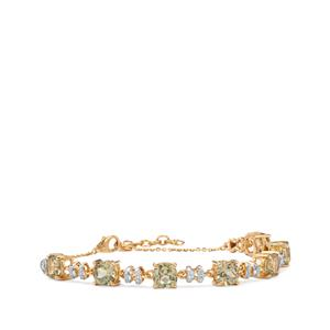 Csarite® Bracelet with Diamond in 18K Gold 8cts