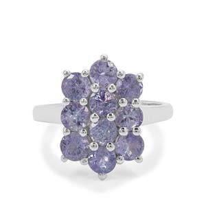 Tanzanite Ring in Sterling Silver 2.76cts