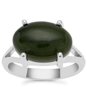 Nephrite Jade Ring in Sterling Silver 7cts