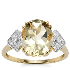 Serenite Ring with Diamond in 9K Gold 3.33cts