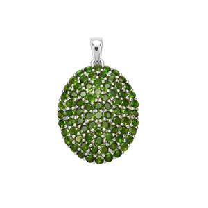 Chrome Diopside Pendant in Sterling Silver 6.35cts