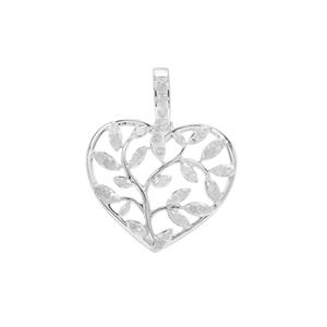 Diamond Pendant in Sterling Silver 0.35ct