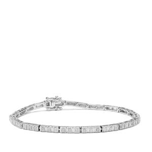 Diamond Bracelet in Sterling Silver 2ct