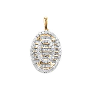 1ct Diamond 10K Gold Tomas Rae Pendant