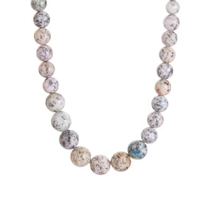 K2 Azurite Graduated Necklace in Sterling Silver 165.70cts