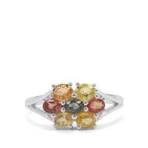 1.66ct Songea Rainbow Sapphire Sterling Silver Ring