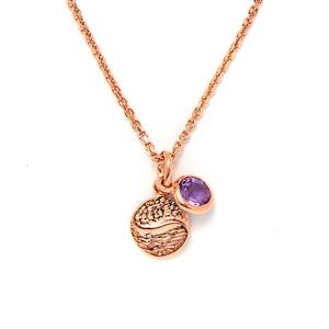 0.47ct Amethyst Rose Gold Vermeil Pendant Necklace