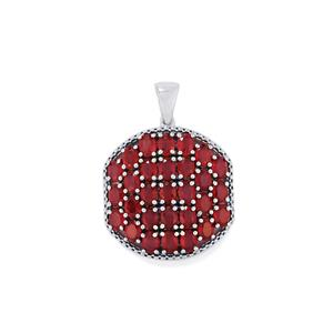 Madagascan Ruby Pendant  in Sterling Silver 7.90cts (F)