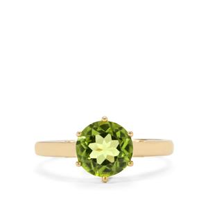 Changbai Peridot Ring in 10k Gold 1.93cts