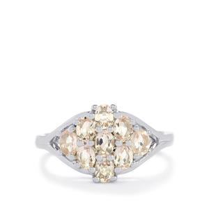 1.01ct Zambezia Morganite Sterling Silver Ring