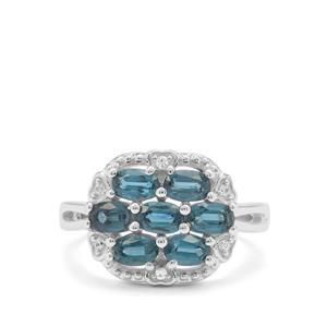 Orissa Kyanite & White Zircon Sterling Silver Ring ATGW 2.19cts