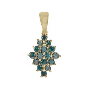 1/2ct Blue Diamond 9K Gold Pendant