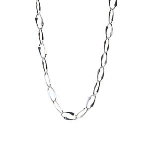 "20"" Sterling Silver Altro Fancy Paper Chain Necklace 9.10g"