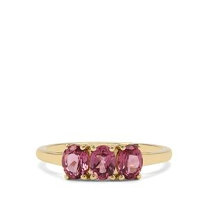 Malaya Garnet Ring in 9K Gold 1.31cts