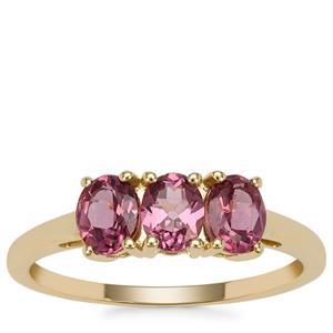Malaya Garnet Ring in 9K Gold 1.31cts