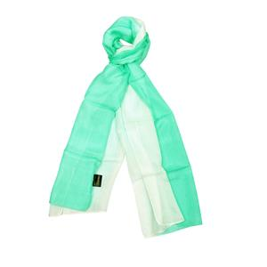 100% Silk Ombre Dyed Sea Breeze Scarf