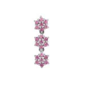 Sakaraha Pink Sapphire Pendant in Sterling Silver 0.54ct