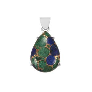 Mojave Azurite Pendant in Sterling Silver 21cts