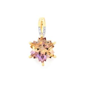 Anahi Ametrine Pendant with Diamond in 10k Gold 3.92cts