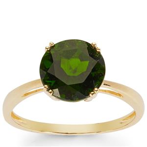 Chrome Diopside Ring in 10K Gold 2.84cts