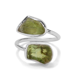 6.60ct Suppatt Peridot Sterling Silver Aryonna Ring