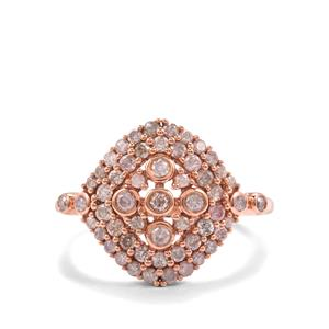 3/4ct Pink Diamond Rose Midas Ring