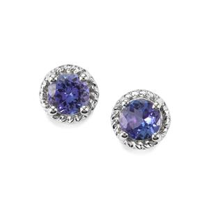 Tanzanite Earrings in Sterling Silver 1.05cts