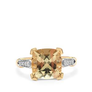 Serenite Ring with Diamond in 18K Gold 3.88cts